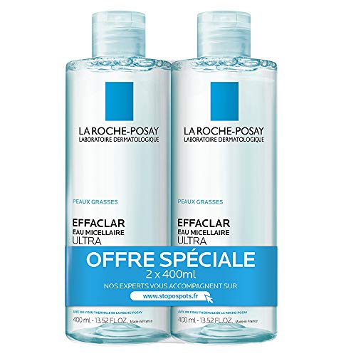 La Roche-Posay Effaclar Eau Micellaire Purifiante Lot de 2 x 400 ml