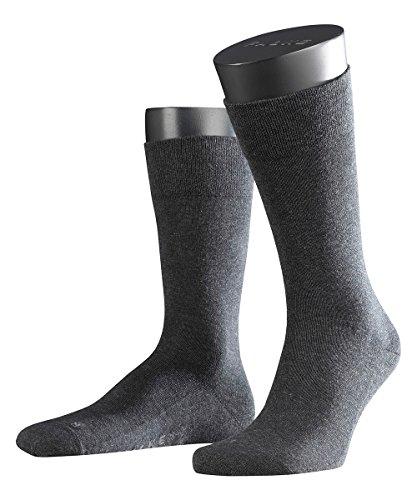 FALKE 3 Paar Herren Socken 14616 Sensitiv London SO, Farbe:Anthrazit Melange 3080, Socken & Strümpfe:43-46