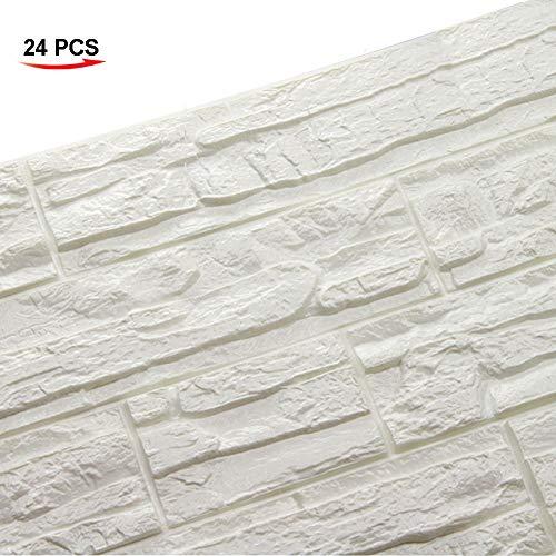 WANWEITONG 3D Papel Pintado ladrillo, PE de Espuma de 3D Wallpaper, DIY Pared...