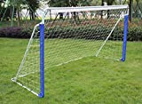 KLB Sport 8' x 5' Portable Steel Soccer Goal with Net and Carry Bag