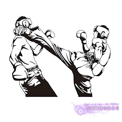 Wandaufkleber Taekwondo Kick Athlet Wettbewerb Aufkleber Samurai Poster vorwärts Wandaufkleber Jugend Schlafzimmer Wohnzimmer Dekoration gemischte Kampfkünste Auto Aufkleber Geschenk Club 58x73cm