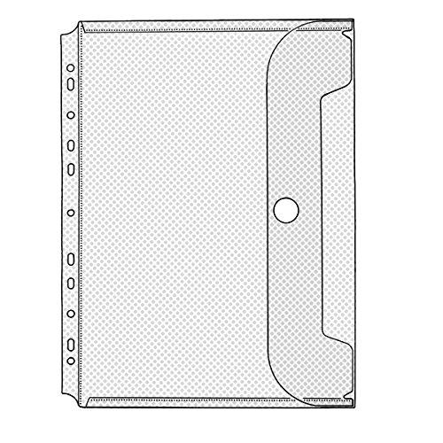 Veloflex 5342100 Dokumenten-Hülle DIN A4, 220x300mm, mit Klappe und Klettverschluss, für ca. 50 Blatt, 1 Stück