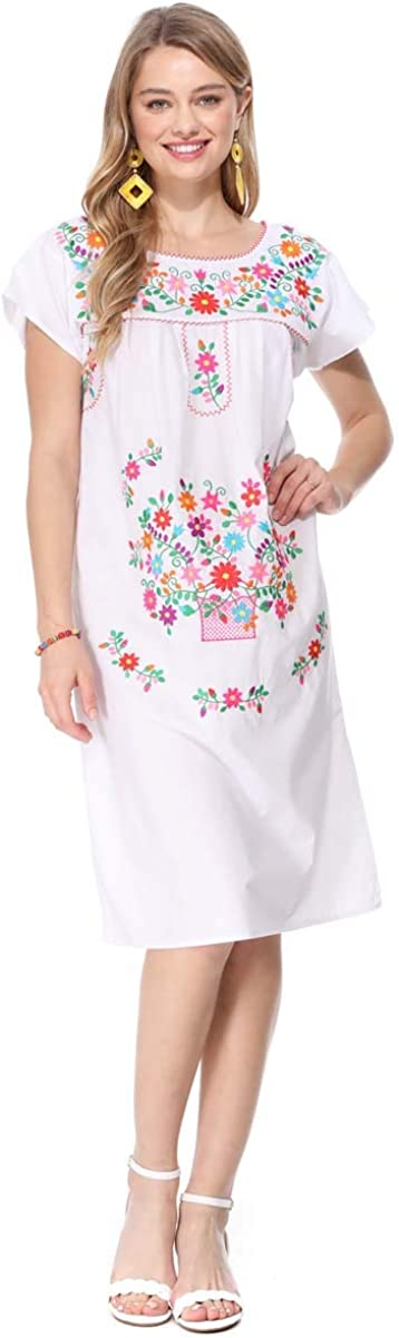 unik Embroidered Traditional Mexican Dress