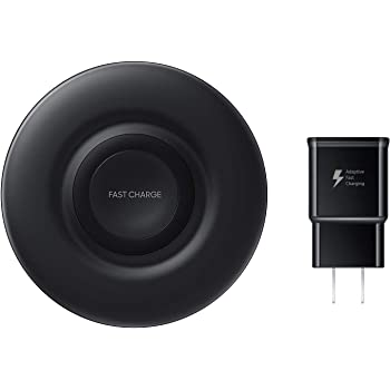 Samsung Wireless Charger Fast Charge Pad (2018), Universally Compatible with Qi Enabled Phones and Select Samsung Watches (US Version), Black - EP-P3100TBEGUS
