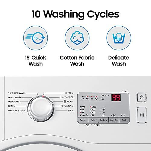 Samsung 6.0 Kg Inverter 5 Star Fully-Automatic Front Loading Washing Machine (WW60R20GLMA/TL, White, Hygiene Steam) 3
