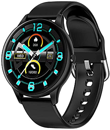 JSL Bluetooth Smartwatch für Frauen IP68 Wasserdicht mit 1,3 Zoll Full Touchscreen 8 Sport-Modi Pulsmesser Schlafmonitor Aktivitätstracker Schrittzähler SMS Anrufbenachrichtigung Silber-A-B