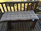 Ofit Quilted Micro Suede Bench Long Chair Cushion Pads (17x40(pad), Camel)