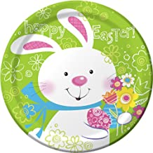8-Count Round Paper Dinner Plates, Hoppy Bunny