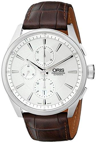 Oris Artix argento quadrante cronografo mens orologio...