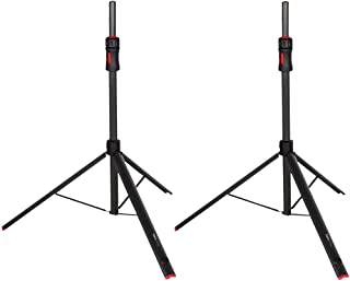 Gator Frameworks ID Series Speaker Stand Set with Padded Nylon Carry Bag; Set of 2 Stands (GFW-ID-SPKRSET)