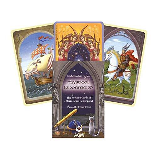 XINKANG Cartas de Tarot 36pcs / Lot Mystical Lenormand Oracle Card Tarot Cards Versión En Inglés Divination Fate Tarot and Oracle Cards Deck Game Juegos De Mesa