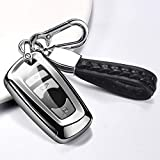ontto Funda para llave de coche para BMW Serie 1 2 3 4 5 6 F10 F20 F25 F30 X3 X4 M3 M4 M5 3GT 5GT accesorios para mando a distancia carcasa de TPU para llaves de coche funda para llave de 3/4 plateado