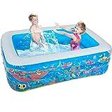 Piscinas Piscinas inflables for niños pequeños bola de piscina for niños, juguete de la piscina, Inflable espesado piscina for adultos, baño de la familia for los niños (Color: azul, tamaño: 6 pies) y