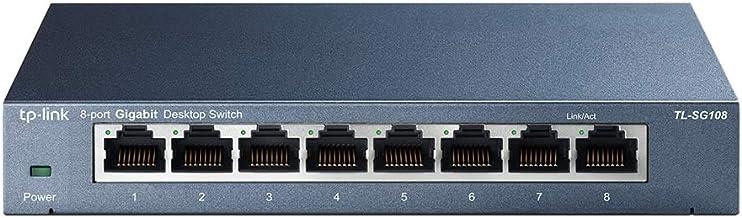 TP-Link TL-SG108 V3 8-Ports Gigabit Netzwerk Switch (bis 2000MBit/s im Vollduplexmodus, geschirmte RJ-45 Ports, Metallgehä...
