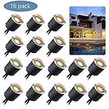 Kit Luci Da Incasso a LED Con Guscio di Protezione φ30mm/24mm, Luci LED IP67 impermeabili Per Terrazze Per Illuminare Il Paesaggio, 16pz Bianco Caldo Per Giardino, Scale, Gradini, Patio