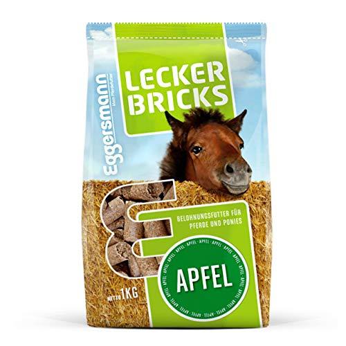 Eggersmann Lecker Bricks Apfel – Pferdeleckerlis Apfel – Leckerlies für Pferde und Ponies – 1 kg Beutel