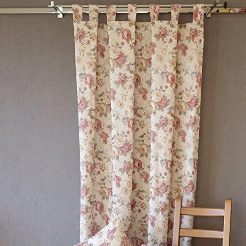 Kamaca Serie Romantic Roses in Creme Rose mit zarten Pastelltönen Markenqualität hoher Baumwolle Anteil (Schlaufenschal 140x245 cm)