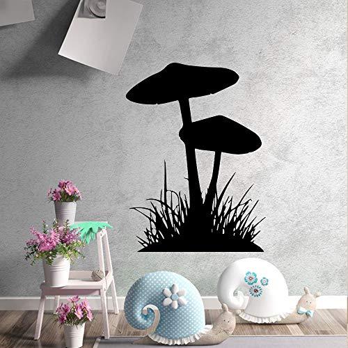 43 * 58cm Artistic Mushrooms, grass Home Decor Vinyl Wall Stickers For Children