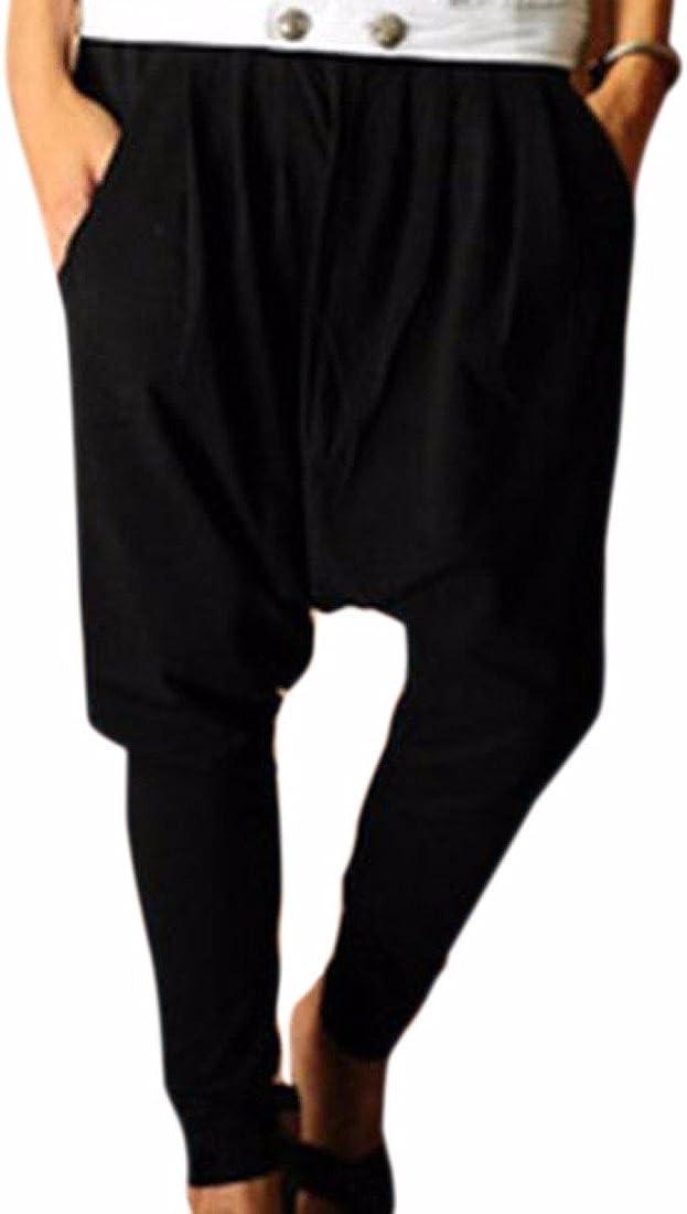QIYUN.Z Los Hombres De Moda Los Pantalones Harem Roca