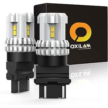 OXILAM 3157 LED Bulbs Reverse Lights 2800 Lumens 6000K Xenon White 3156 3056 3057 4057 4157 LED Bulbs for Used for Backup light, Tail light, Brake light (Pack of 2)