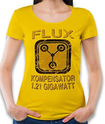 Flux Kompensator Zurueck In Die Zukunft Damen T-Shirt gelb M
