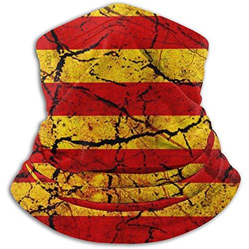 Bklzzjc Calentador de Cuello de vellón Vintage de Cataluña: Tubo Reversible de Polaina de Cuello, Diadema y máscara de Calentador de oído versátil