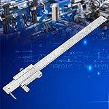 Calibrador de dial portátil, calibrador a vernier de acero inoxidable de alta precisión Regla de calibre de 0-200 mm con herramienta de medición Scriber