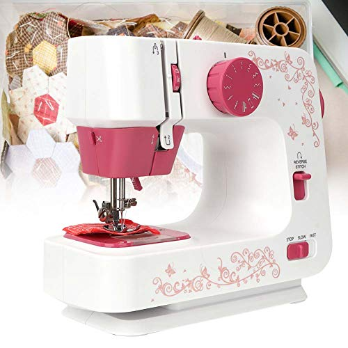 Qinlorgo Mini Sewing Machine, Household Hand-held Tailor Electric Sewing Machine with 12 Stitches(US Plug)