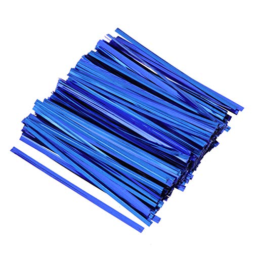 Toyvian Colorful Metallic Twist Ties Bread Candy Bag Legami Sacchetti regalo wrapping cravatte per festa di compleanno festa di nozze 800pcs 10cm (blu