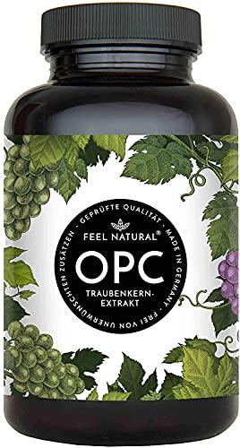 OPC Traubenkernextrakt - 240 Kapseln - Höchster OPC Gehalt nach HPLC - Laborgeprüftes OPC aus französischen Weintrauben - 1000mg Extrakt mit 700mg OPC - Vegan, in...