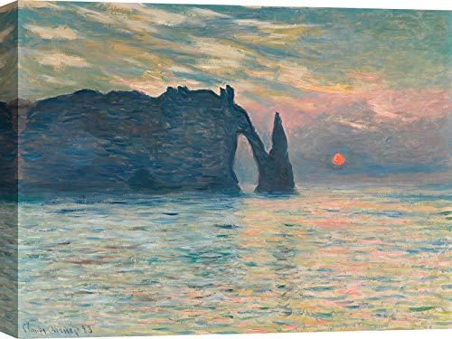 ART PRINT CAFE' Tableau Monet - Impression sur toile - Claude Monet, Scueillette à Etretat - Dimensions 60 x 40 cm