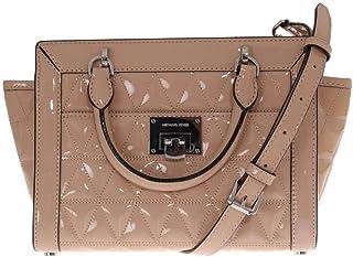 Michael Kors Vivianne Small Top Zip Patent Leather Messenger Bag Handbag