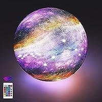 【3D-Drucktechnologie】: Die sternenklare dimmbare OxyLED mondlampe wird mithilfe der 3D-Drucktechnologie hergestellt. In Übereinstimmung mit den astronomischen Daten wird jeder Berg und jeder Krater auf der Mondoberfläche reproduziert. Zusätzlich habe...