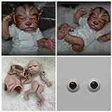Zero Pam Reborn Doll Kit 19inch Reborn Baby Werewolf Babies Mould Unpainted Newborn Baby Doll Parts Real Look Animal Supplies Reborn Beginners Painted