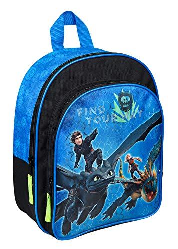Undercover Rucksack mit Vortasche, Dreamworks Dragons, ca. 31 x 25 10 cm Mochila infantil, cm, Azul (Blau)