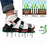 JustForMoo JfM Garden Lawn Aerator Shoes - with 26 spikes to allow your grass to breathe - NOW WITH 6 x METAL BUCKLES!