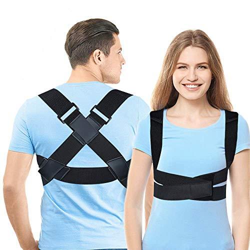 Posture Corrector for Men & Women, Upper Back Straightener Brace, Adjustable Posture Brace for Clavicle Support, Providing Pain Relief from Neck, Back and Shoulder Medium (31