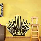 Pegatina de trono con forma de espada para baño, sala de estar, cuarto de baño, calcomanía de PVC de 19,5 x 19,5 pulgadas