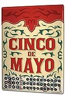 カレンダー Perpetual Calendar Fun rative Cinco de Mayo Tin Metal Magnetic