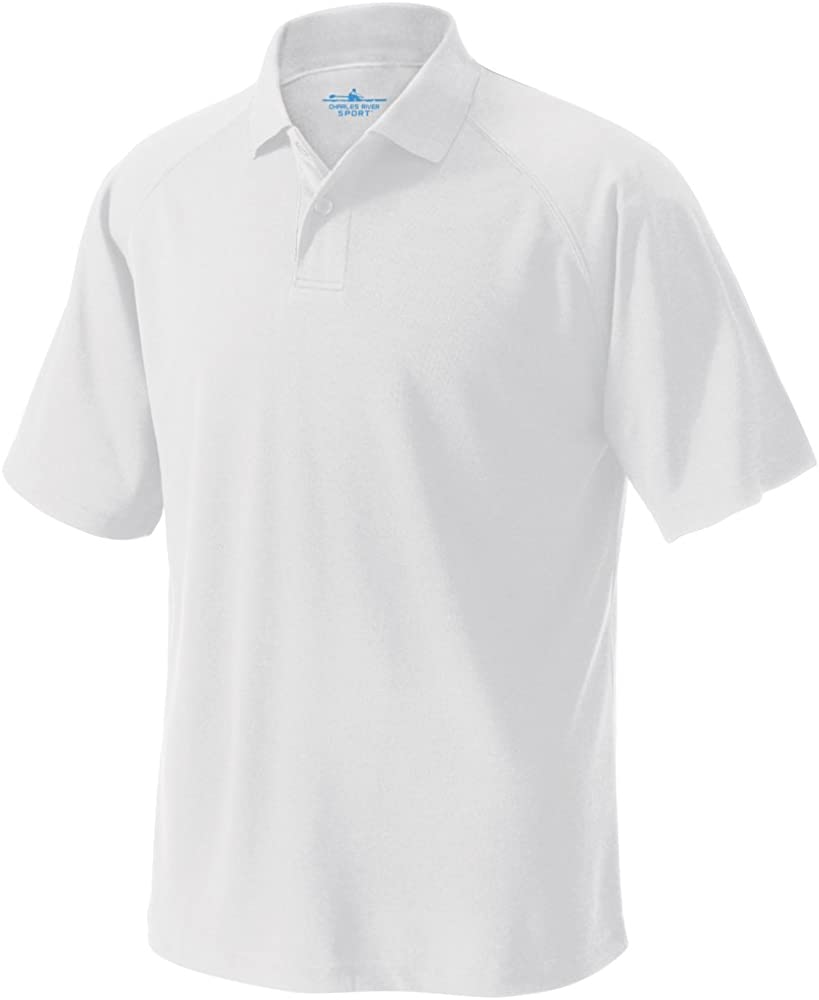 Charles River Apparel Men's Classic Wicking Polo, White, 3XL