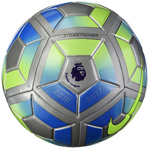 Nike Premier League Strike Premium–Balón de fútbol, Silver/Green/Blue
