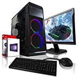 AMD Ryzen3 4x3.4GHz Full-HD Silent Gaming Komplett PC-Paket mit 24 TFT - Monitor/Tastatur Maus |...