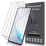 LK Compatible avec Samsung Galaxy S10 Lite/Note 10 Lite Verre Trempé, 3 Pièces,Protection...