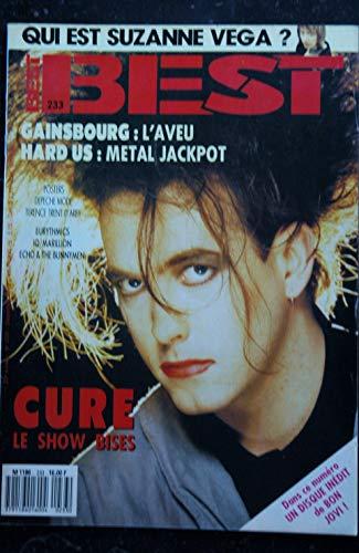 BEST 233 DECEMBRE 1987 COVER CURE GAINSBOURG DEPECHE MODE EURYTHMICS MARILLION SUZANNE VEGA avec Poster