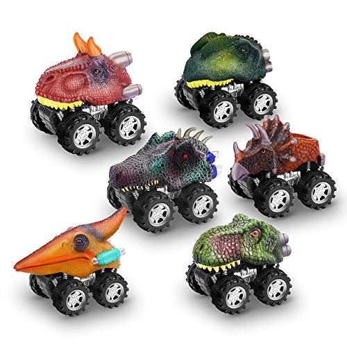 dmazing Dinosaurios Juguetes, Regalos para Niños de 2-6 Años Juegos Niños 2-6 Años Juguetes Niños Niñas 2-6 Años Regalos Navidad Niños Regalos para Niñas Regalos de Cumpleaños para Niños 6 Piezas