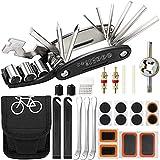Kit de Herramientas para Bicicleta,16 en 1 Multiherramienta Bicicleta,Multiherramienta Bicicleta con Parches,Herramienta de Reparación de Bicicletas,Bolsa Herramientas Bicicleta Multiusos Portátil