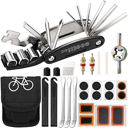 Multiherramienta para Bicicletas,Kit de reparación de Bicicletas,Práctica Herramienta para Bicicletas,Herramienta de Bicicleta,Bicicleta Multiherramienta,Juego de Multiherramienta para Bicicleta (35)