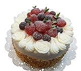 Handgemachte & Naturgetreue Imitation/Lebensmittelattrappe - Große Obst Torte - Durchmesser: 15cm / Höhe: 10cm