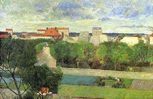 La famosa pintura de Paul Gauguin Los jardines del mercado de Vaugirard DIY Pintura al óleo por números Kits Lienzo Regalo para adultos Niños Cumpleaños Boda nuevo alojamiento decoraciones