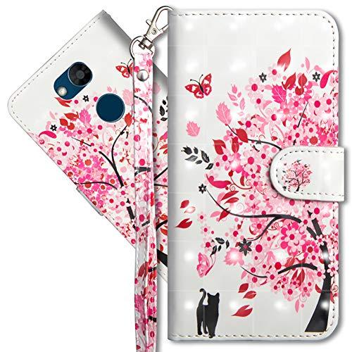 MRSTER LG Xpower 3 Handytasche, Leder Schutzhülle Brieftasche Hülle Flip Hülle 3D Muster Cover mit Kartenfach Magnet Tasche Handyhüllen für LG X Power 3. YX 3D - Tree Cat